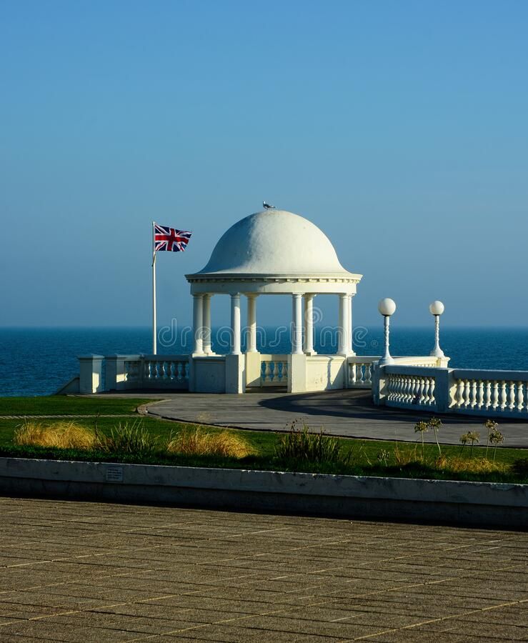 Free Dome. Shelter And British Flag.De La Warr Pavillion. Bexhill, Sussex, UK Royalty Free Stock Images - 187403289