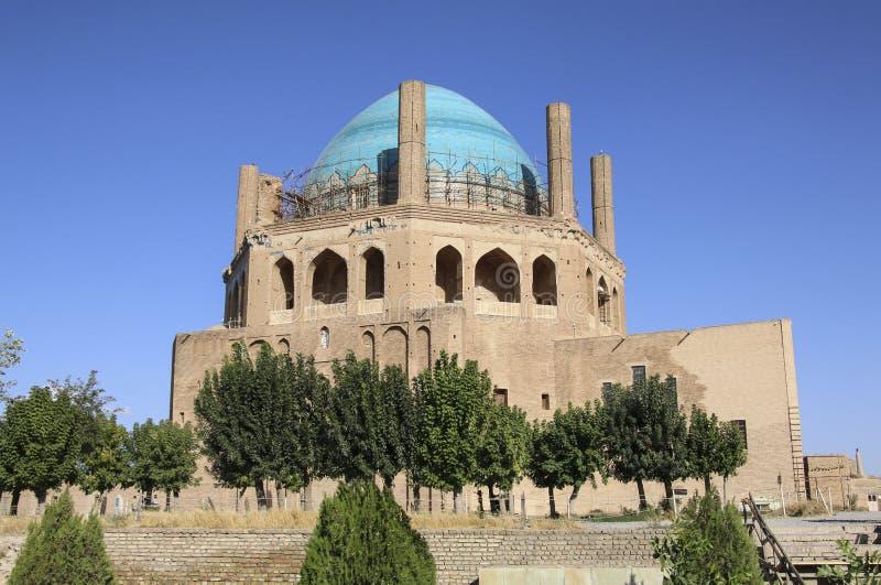 Dome of Soltaniyeh is an ancient mausoleum near Zanjan city, Iran. UNESCO World Heritage Site stock image