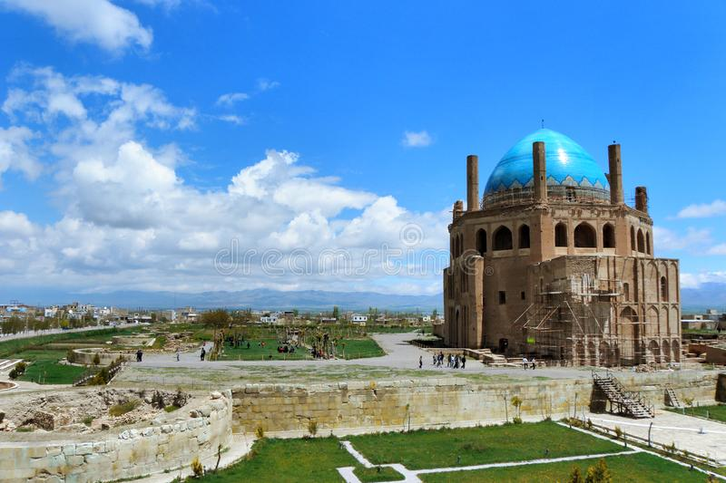 Dome of Soltaniyeh royalty free stock photo