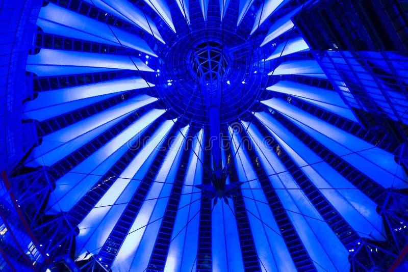 Download Dome Sony Center On Postadmer Platz To Night Light Editorial Stock Image - Image: 27242299