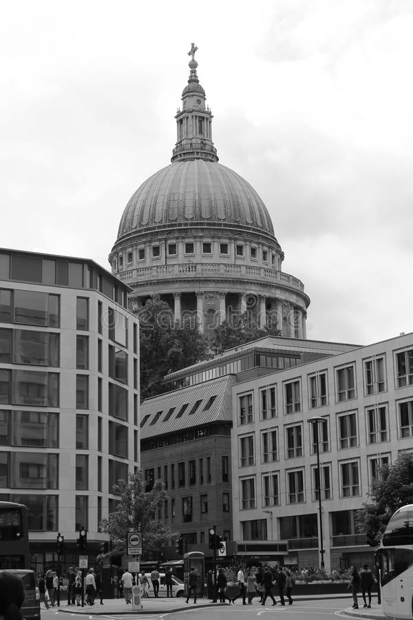 Dome of St. Paul's Cathedral London royalty free stock photos