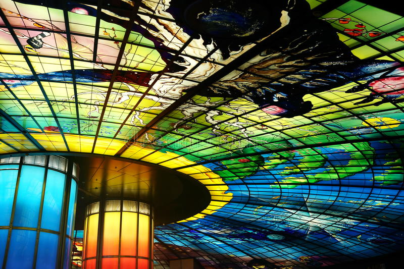 The dome. The Stained glass dome in Taiwan royalty free stock photos