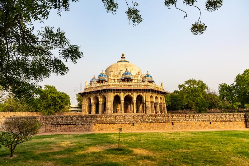 Dome of 16th century at Delhi India. 16th century dome, tomb of Isa Khan from the mughal dynasty at Delhi ,India, Asia royalty free stock image