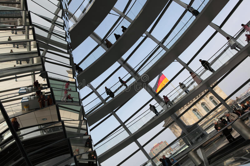 Dome on top of the Reichstag. In Berlin, Germany stock image