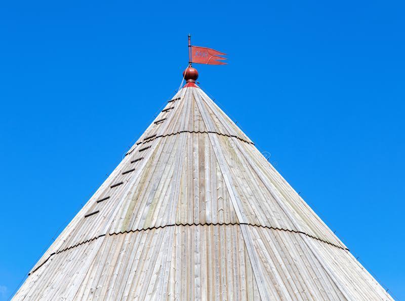 Dome tower of ancient Oreshek fortress. In Shlisselburg, Russia stock image