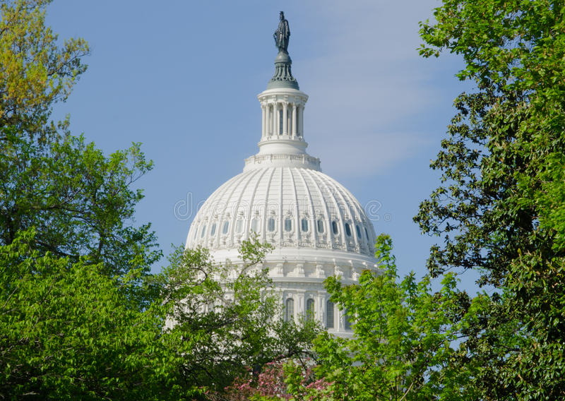 Dome of the United States Capitol Building royalty free stock image