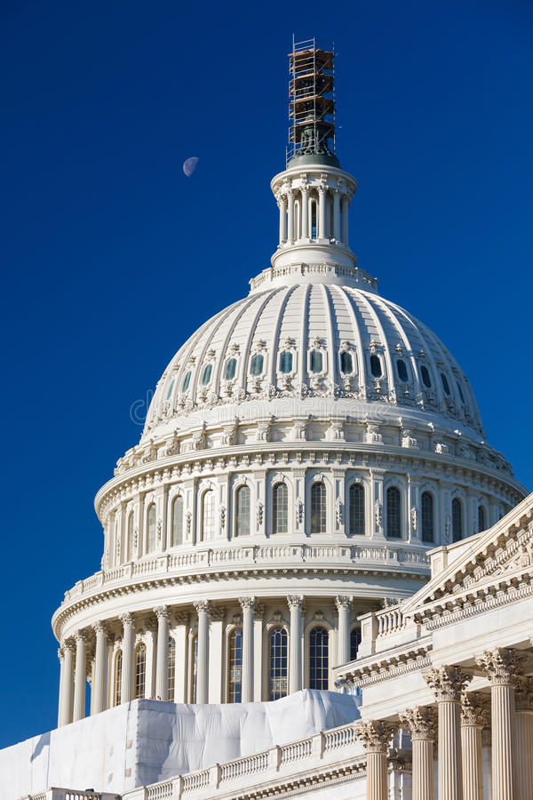 Dome of the US Capitol. Washington DC royalty free stock images
