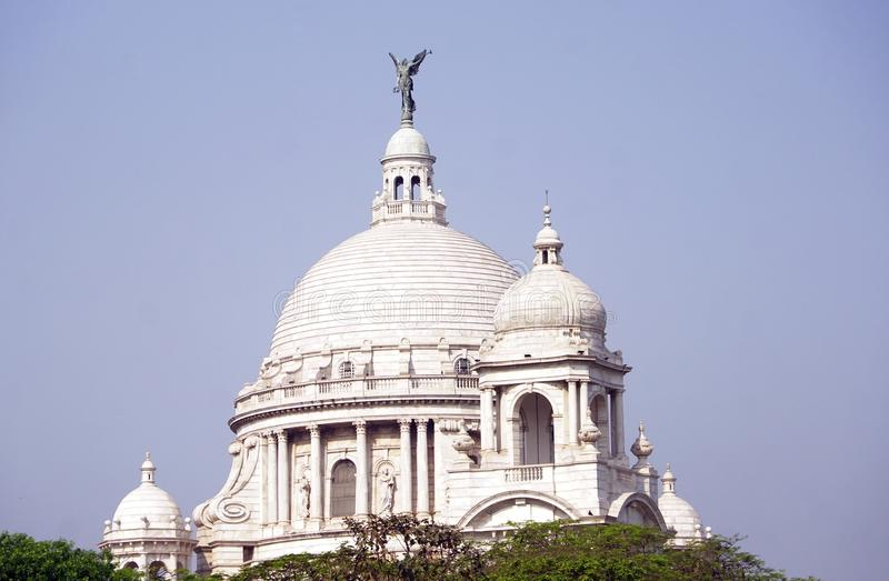The dome of Victoria Memorial, Kolkata. The Victoria Memorial one of most famous monuments of India, situated at heart of the City of Joy, Kolkata Calcutta in stock photos