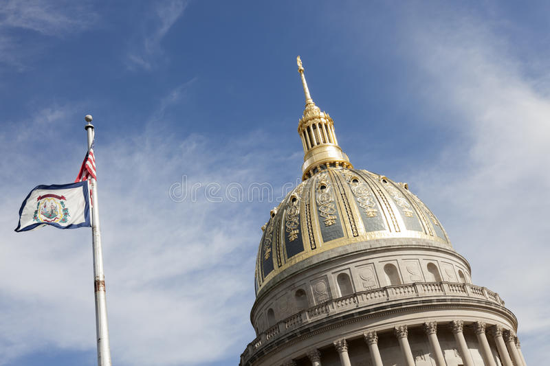 Dome of West Virginia State Capitol Building stock photos
