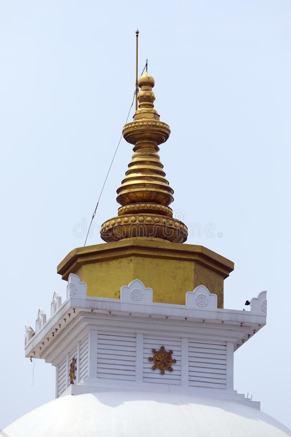 Dome of World Peace Pagoda close up view stock photos