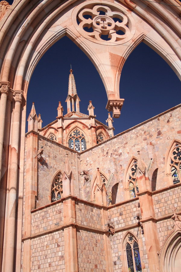 Dome, zacatecas, mexico. Dome of the church of nuestra señora de fatima in zacatecas, mexico royalty free stock photography