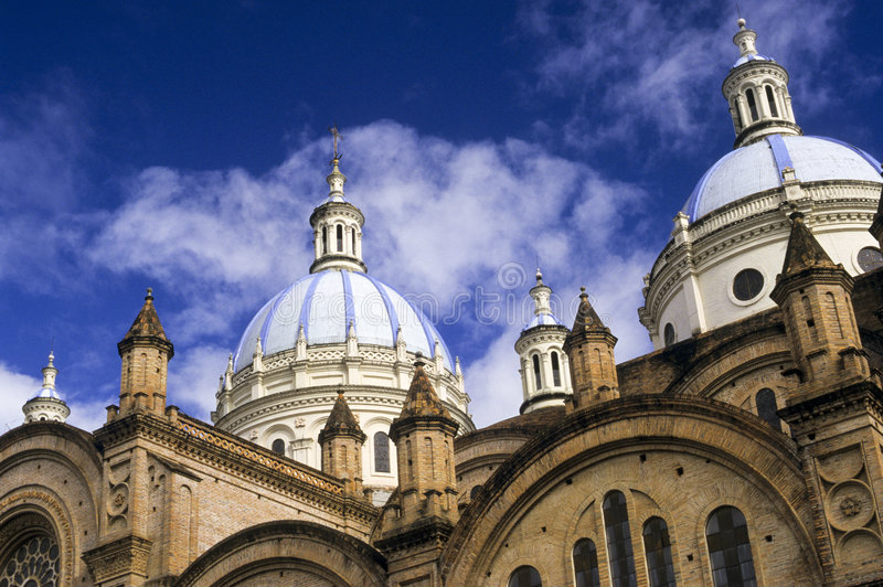 Domed Cathedral, Cuenca, Ecuador royalty free stock photography