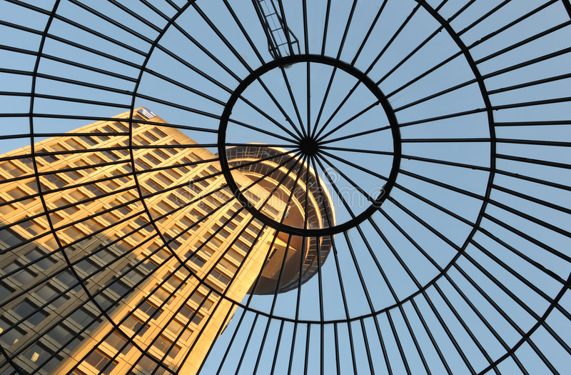 Download Domed Glass Roof Of Entrance To Emporis Building Stock Photo - Image: 5320076