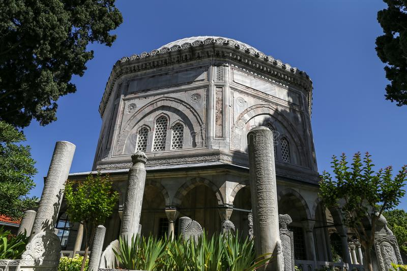 Domed Mausoleum of Hurrem Sultan in Istanbul, Turkey royalty free stock image