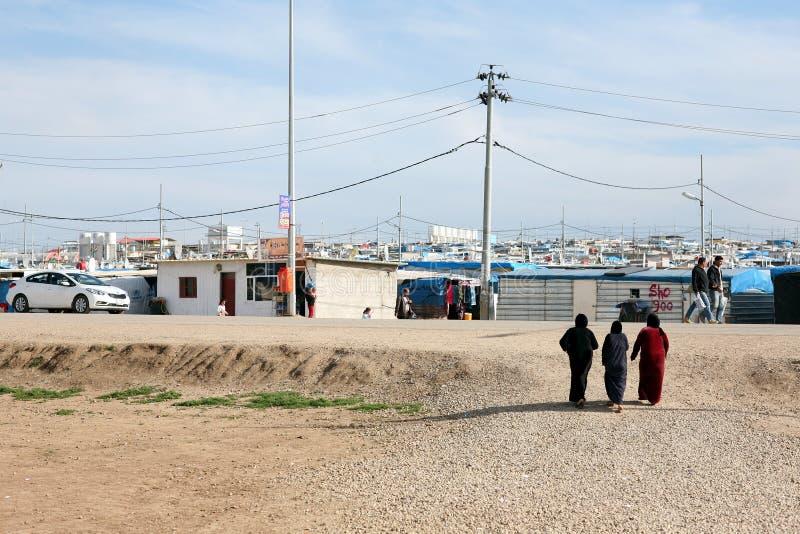 Domeez-Flüchtlingslager stockfotos