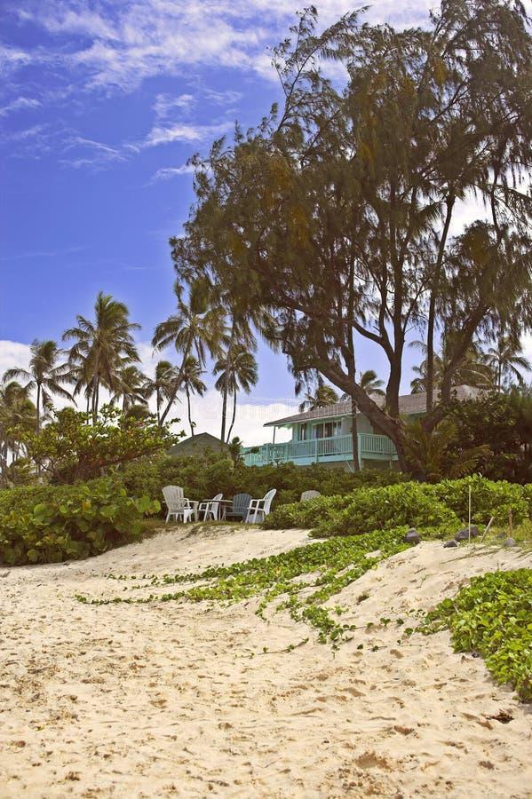 domek na plaży fotografia stock