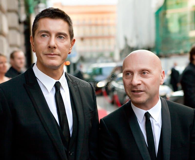 Domenico Dolce and Stefano Gabbana stock image