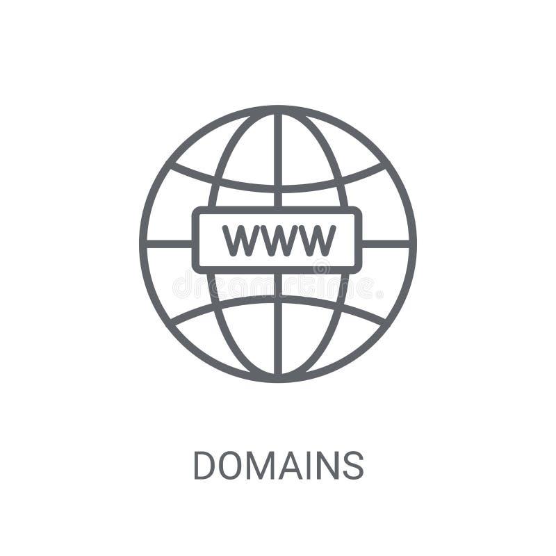 Domeny ikona Modny domena logo pojęcie na białym tle fr ilustracji