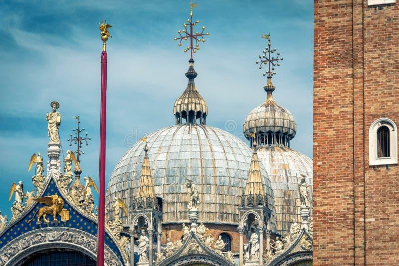 Domes of Basilica di San Marco in Venice, Italy stock image