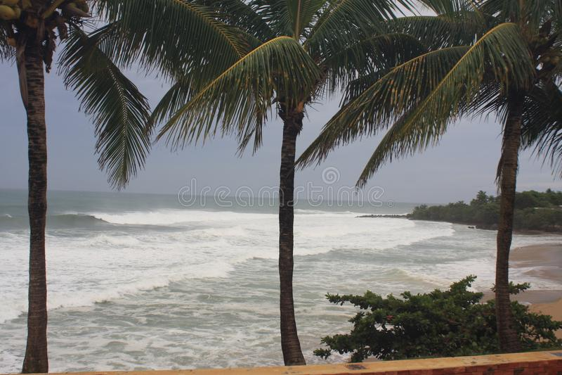Domes Beach Hurricane Irma Rincon, Puerto RIco 2017 royalty free stock photos
