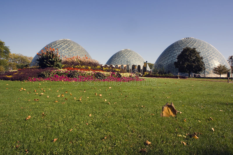 Domes of a Botanic Garden royalty free stock images