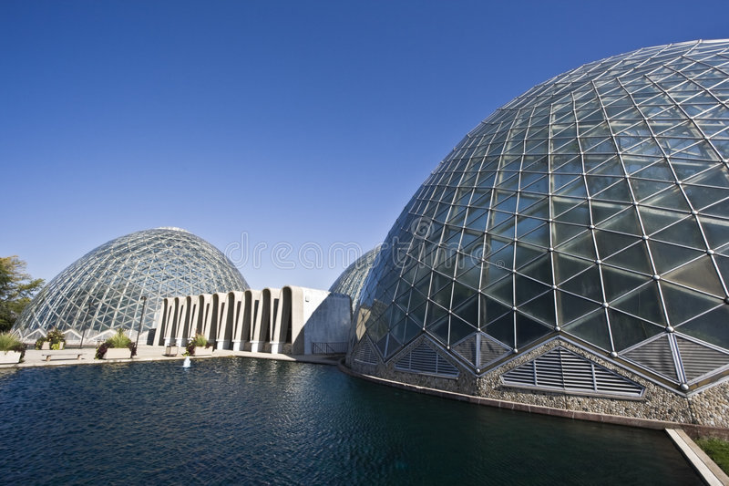 Domes of a Botanic Garden in Milwaukee royalty free stock photography