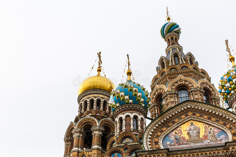 Domes of Church of the Saviour on Spilled Blood, St. Petersburg stock photography