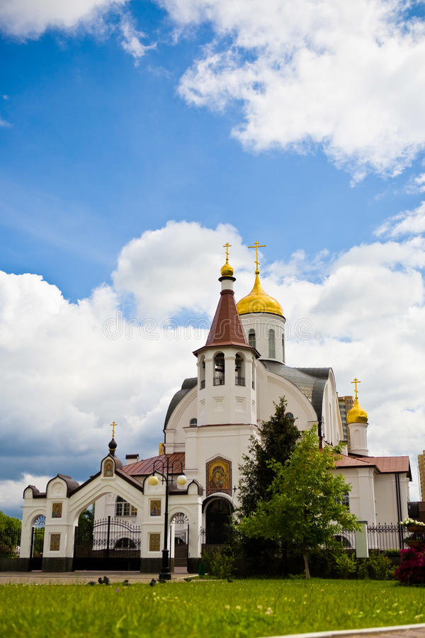 Domes and clouds royalty free stock photography