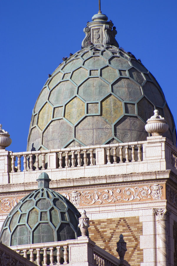 Domes in downtown of Omaha stock photography