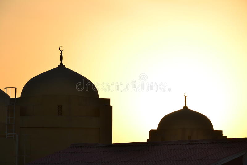 Download Domes of mosques stock photo. Image of sunset, dubai - 28121676