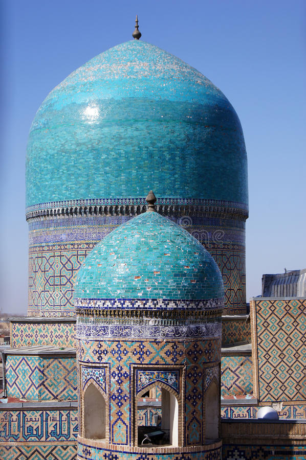 Free Domes Of Mosque In Samarkand, Uzbekistan Royalty Free Stock Photography - 24374987