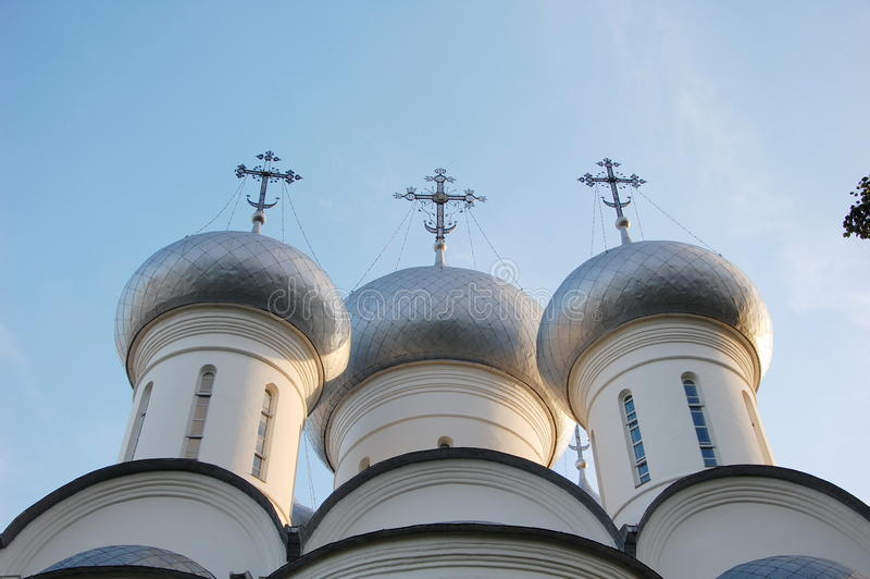 Domes of Saint Sofia Cathedral stock photography