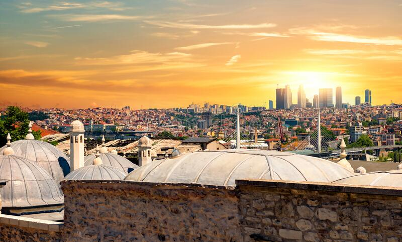 Domes of Suleymaniye stock photo