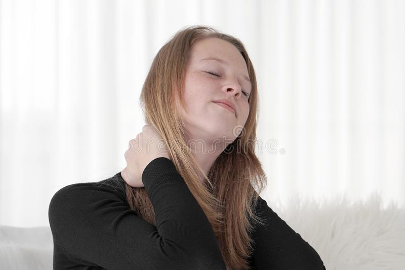 Domestic Abuse. Coseup of unhappy crying girl stock photography