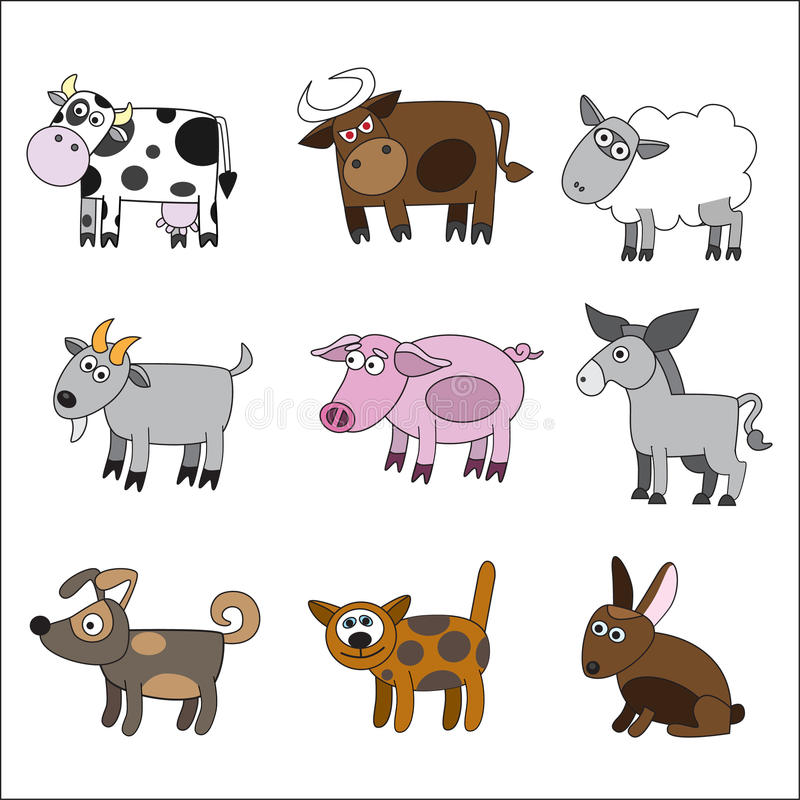 Download Domestic Animal Set Royalty Free Stock Images - Image: 15278839