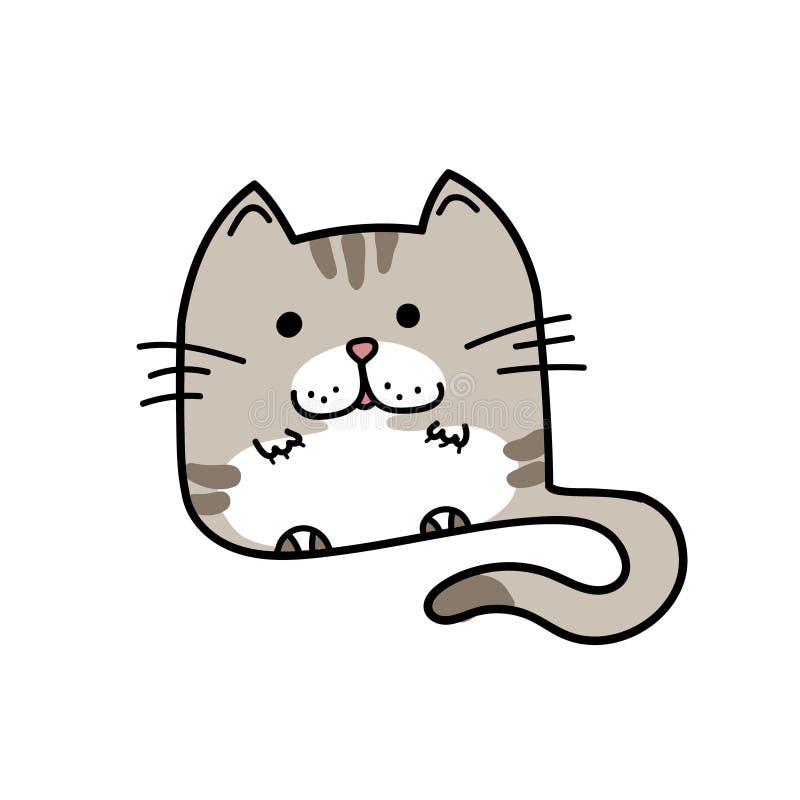 Domestic cat hand drawn royalty free stock photos