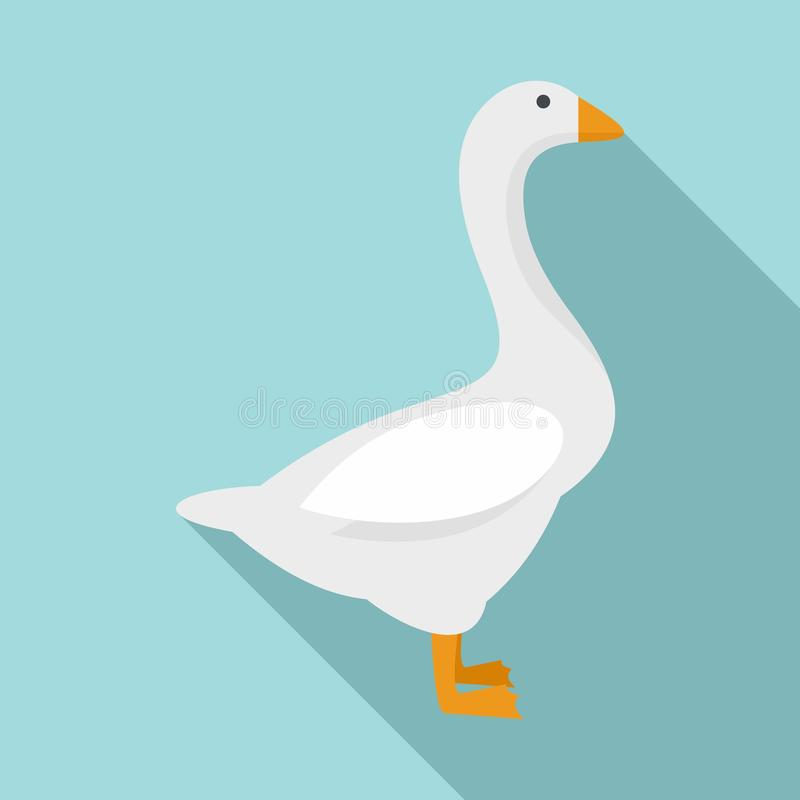 Free Domestic Goose Icon, Flat Style Royalty Free Stock Image - 158130516