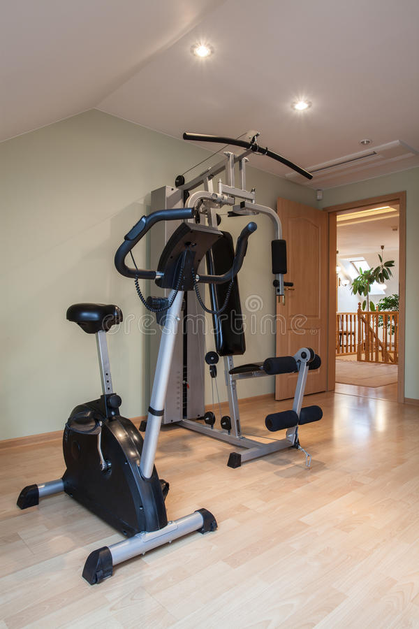 Domestic Gym Royalty Free Stock Photography
