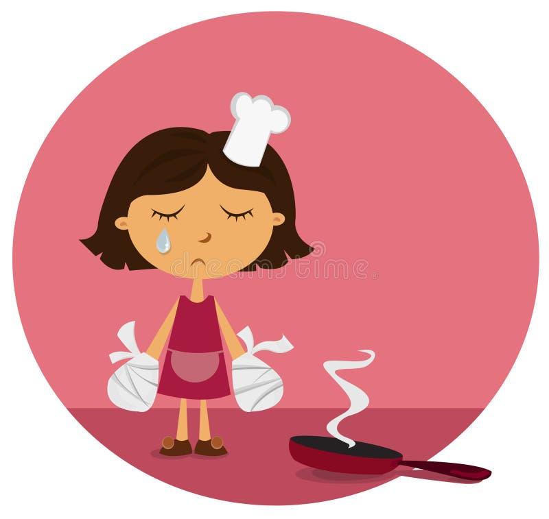 Download Domestic injury stock vector. Illustration of dinner, plaster - 7173710