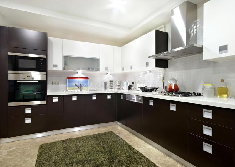 Domestic Kitchen. In the residential structure royalty free stock images