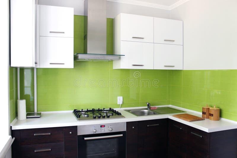 Domestic Kitchen. Modern domestic Kitchen, stylish interior design stock image