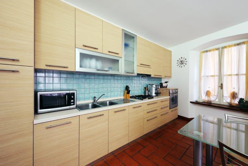 Download Domestic kitchen stock photo. Image of stove, room, horizontal - 25777734