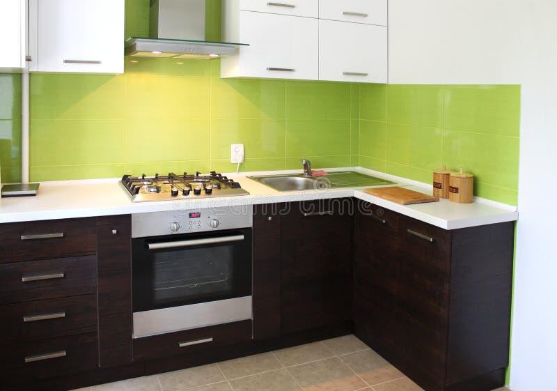 Domestic Kitchen design. Modern domestic Kitchen interior design stock photo
