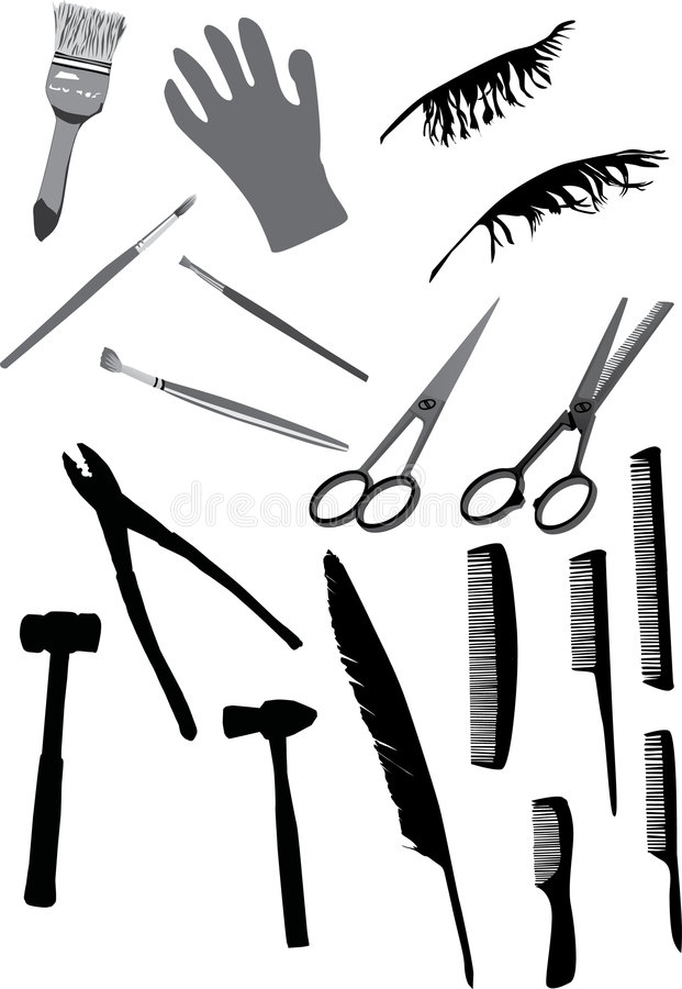 Download Domestic Object Silhouettes Stock Illustration - Image: 7661462