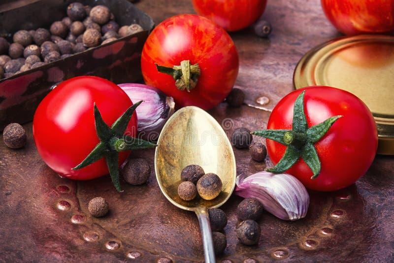 Domestic pickle tomato stock photo