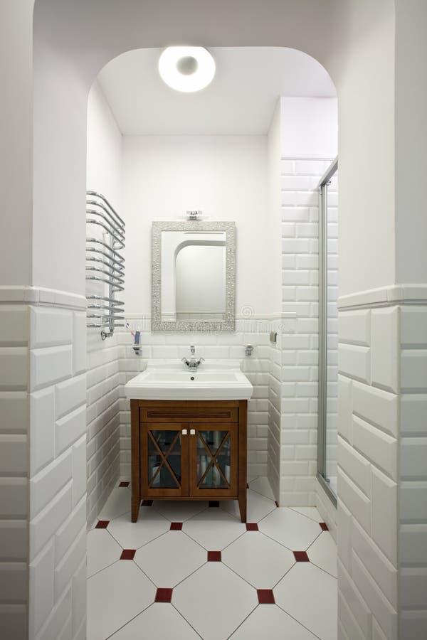 Domestic room interior. Interior of beautiful domestic room in white color stock photography