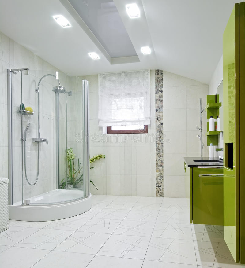 Domestic room interior. Interior of a new domestic room with green furniture royalty free stock images