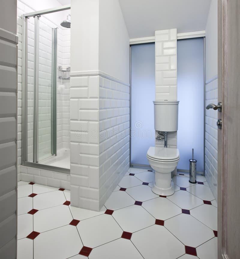Domestic room interior. Interior of beautiful domestic room in white color stock photo