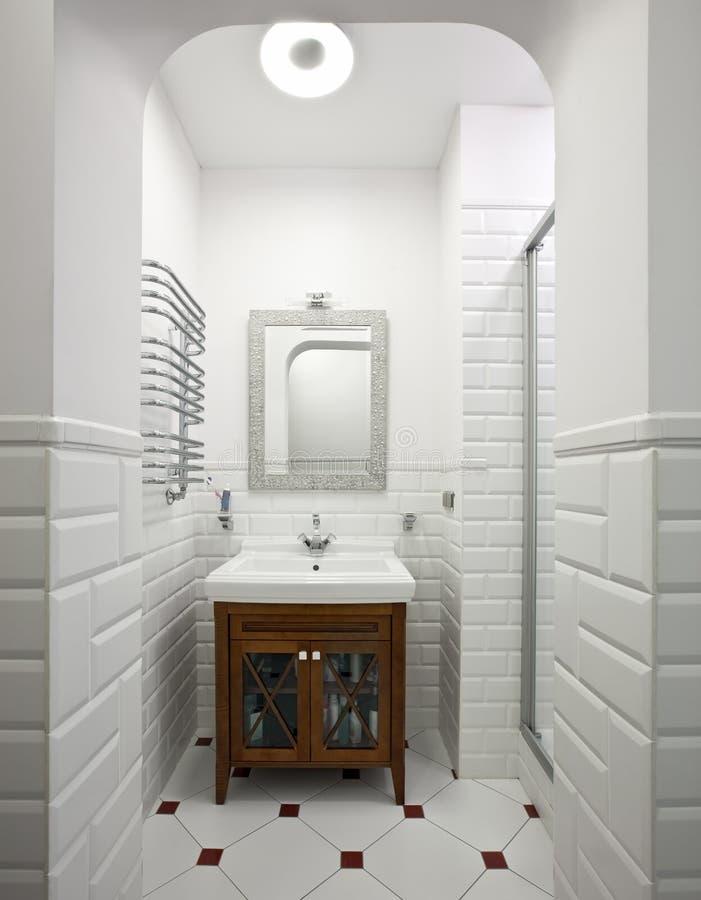 Domestic room interior. Interior of beautiful domestic room in white color stock photos