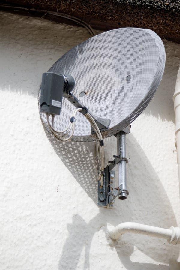A satellite dish. A domestic TV satellite dish stock images
